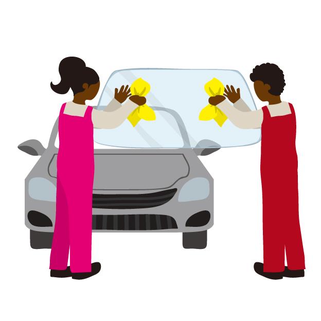 自動車のフロントガラスのお手入れ方法